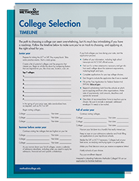 College Selection Timeline