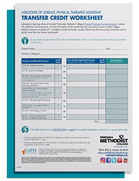 PTA Transfer Credit Worksheet