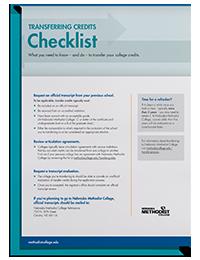 ADM Transferring Credits Checklist