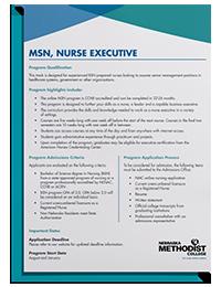 MSN Nurse Executive Degree Guide