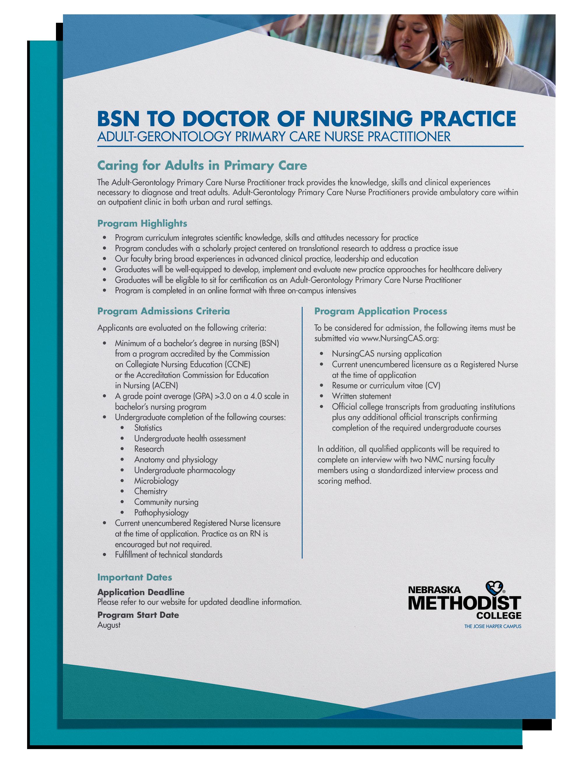 Adult Gerontology Primary Care Nurse Practitioner